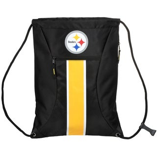 Pittsburgh Steelers NFL Big Stripe Drawstring Backpack