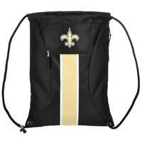 New Orleans Saints NFL Big Stripe Drawstring Backpack