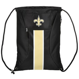 New Orleans Saints NFL Big Stripe Drawstring Backpack