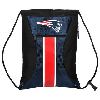New England Patriots NFL Big Stripe Drawstring Backpack
