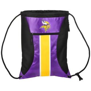Minnesota Vikings NFL Big Stripe Drawstring Backpack