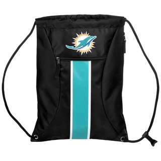 Miami Dolphins NFL Big Stripe Drawstring Backpack