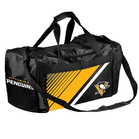 Pittsburgh Penguins NHL Border Stripe Duffle Bag