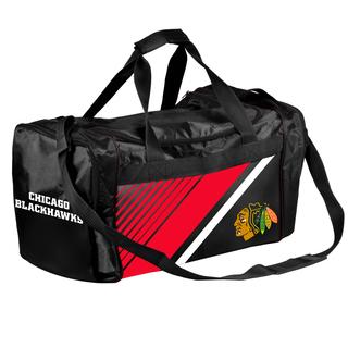 Chicago Blackhawks NHL Border Stripe Duffle Bag