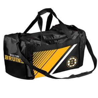 Boston Bruins NHL Border Stripe Duffle Bag