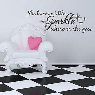 She Leaves A Sparkle Wherever She Goes Wall Vinyl