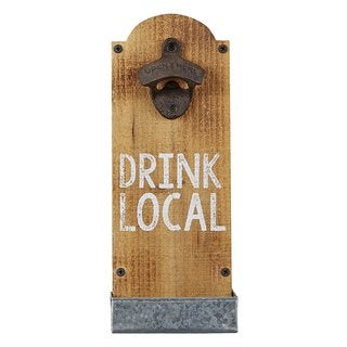 MUD PIE 'Drink Local' Wall Mounted Bottle Opener