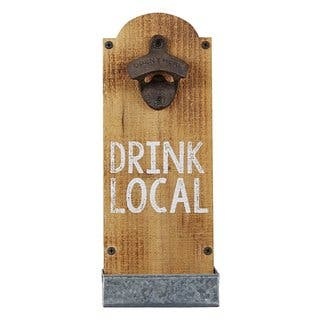 MUD PIE 'Drink Local' Wall Mounted Bottle Opener|https://ak1.ostkcdn.com/images/products/17292625/P23542281.jpg?impolicy=medium