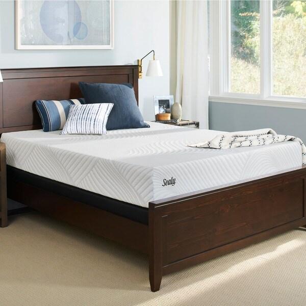 Sealy Conform Essentials Firm 9.5-inch Split California King-size Gel Memory Foam Mattress