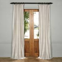Exclusive Fabrics Textured Dupioni Silk Curtain