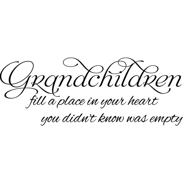shop grandchildren fill a place in your heart vinyl wall decal