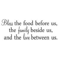 """BLESS THE FOOD BEFORE US Vinyl Wall Art Decal Decor Lettering Words Quotes 24"""""""