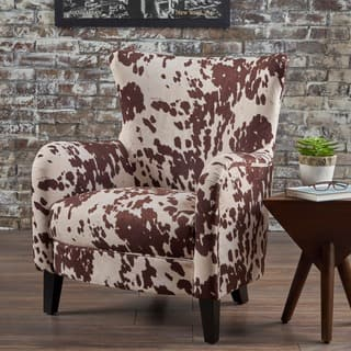 rustic living room chairs. Arabella Cow Print Velvet Club Chair by Christopher Knight Home Rustic Living Room Chairs For Less  Overstock com