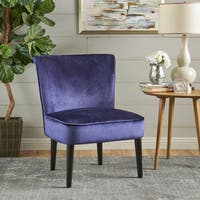 Pietro Mid Century Velvet Armless Chair by Christopher Knight Home