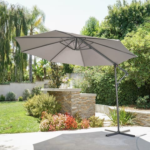 Stanley Outdoor 9.5-foot Steel Canopy Umbrella by Christopher Knight Home