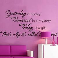 Yesterday Is History Wall Vinyl