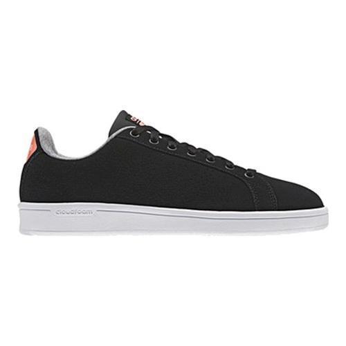 106dcbff67612b Shop Women s adidas NEO Cloudfoam Advantage Clean Court Shoe Core  Black Core Black Sun Glow - Free Shipping Today - Overstock.com - 14336692