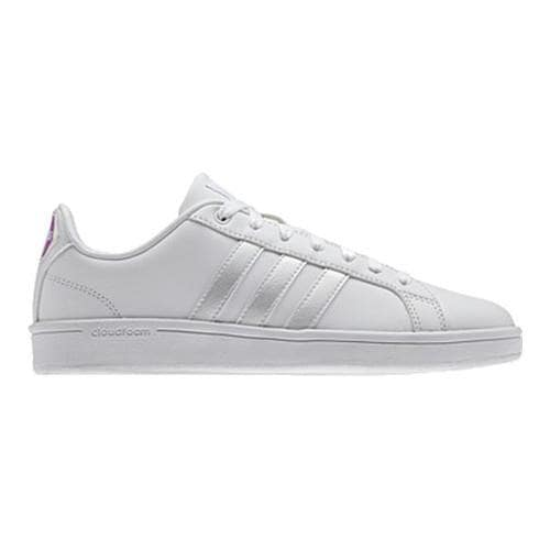 5a0fd430b0a4 Shop Women s adidas NEO Cloudfoam Advantage Stripe Court Shoe FTWR  White FTWR White Core Black - Free Shipping On Orders Over  45 - Overstock  - 14336695