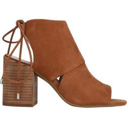 Women's Kenneth Cole New York Katarina Open-Toe Bootie Cognac Nubuck