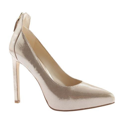 Women's Nine West Lovelost Platform Pump Light Gold Metallic