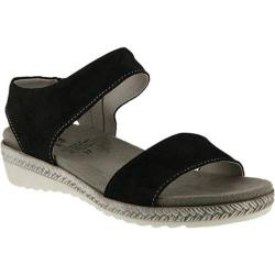 Women's Spring Step Evi Two-Piece Sandal Black Leather