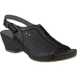 Women's Spring Step Juna Slingback Black Multi Leather