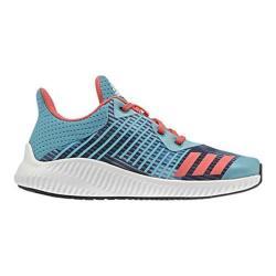 Girls' adidas Fortarun K Printed Running Shoe Energy Blue/Easy Coral/FTWR White