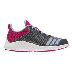 Girls' adidas Fortarun K Running Shoe Dark Grey/Easy Blue/Shock Pink