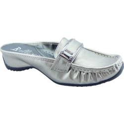 Women's Bellini Whirl Buckle Mule Pewter Polyurethane