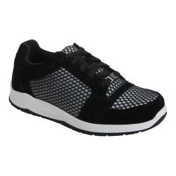 Women's Drew Gemini Walking Shoe Black Suede/Mesh