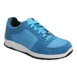 Women's Drew Gemini Walking Shoe Blue Suede/Mesh