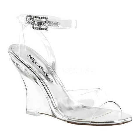 Women's Fabulicious Lovely 406 Wedge Sandal Clear PVC/Clear