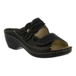 Women's Spring Step Ankita Slide Black Leather