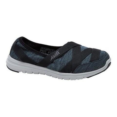 Women's Avia Avi-Aura Slip-On Shoe Black/Iron Grey/Cool Mist Grey