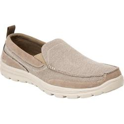 Men's Deer Stags Fitz Twin Gore Slip On Taupe