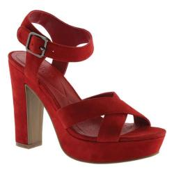 Women's Kenneth Cole Reaction I Can Change Platform Sandal Lipstick Red Suede
