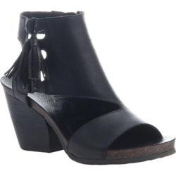Women's OTBT Flower Sandal Black Leather