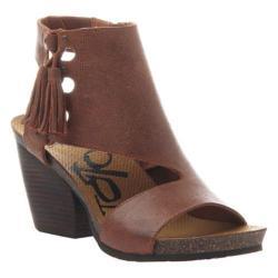 Women's OTBT Flower Sandal Red Sutter Leather