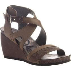 Women's OTBT Freedom Strappy Wedge Sandal Dust Grey Leather