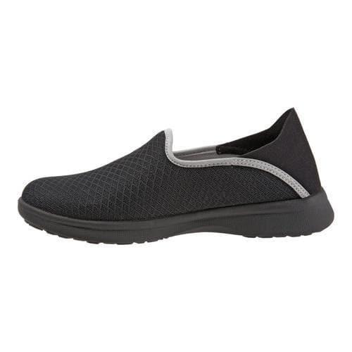 8c797059b26 Women's SoftWalk Simba Slip-On Sneaker Black Mesh | Overstock.com Shopping  - The Best Deals on Slip-ons