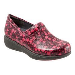 Women's SoftWalk Meredith Sport Clog Black/Coral Floral