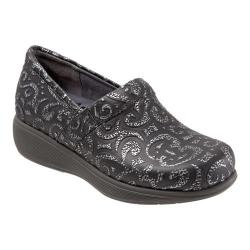 Women's SoftWalk Meredith Sport Clog Black/Silver Tooled