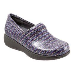 Women's SoftWalk Meredith Sport Clog Eggplant Multi Herringbone