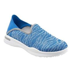 Women's SoftWalk Simba Slip-On Sneaker Blue Knit