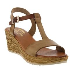 Women's Spring Step Jamari T Strap Sandal Taupe Leather