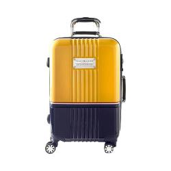 Tommy Hilfiger Duo Chrome 25in Hardside Suitcase Yellow/Navy