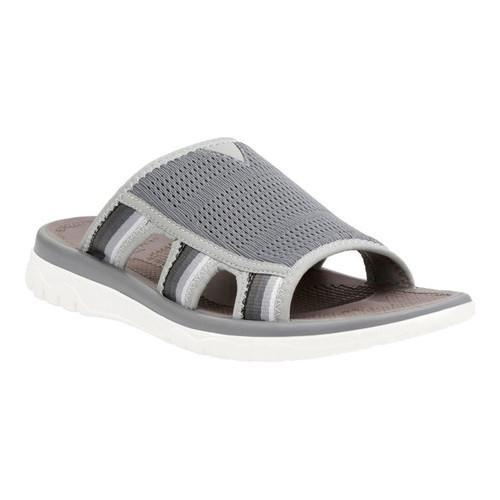 aec68fa4b715 Shop Men s Clarks Balta Ray Slide Sandal Grey Textile - Free Shipping Today  - Overstock - 14381353