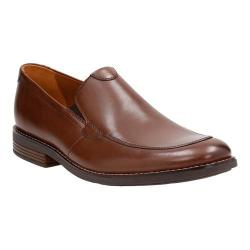 Men's Clarks Becken Step Apron Toe Loafer Tan Leather