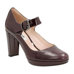 Women's Clarks Kendra Gaby Mary Jane Aubergine Leather