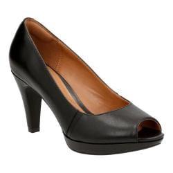 Women's Clarks Narine Rowe Black Leather